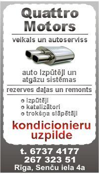Izpūtēji, katalizatori, kondicionieru uzpilde - Quattro Motors